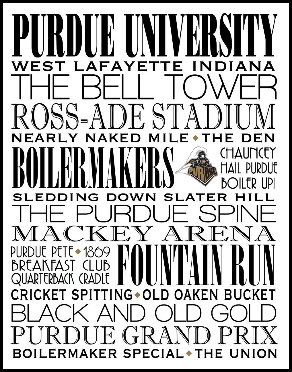 Purdue University Boilermakers Print Landmarks Poster Subway Wall Art Graduation Also In Canvas Other Sizes Col Purdue University Purdue Subway Wall Art