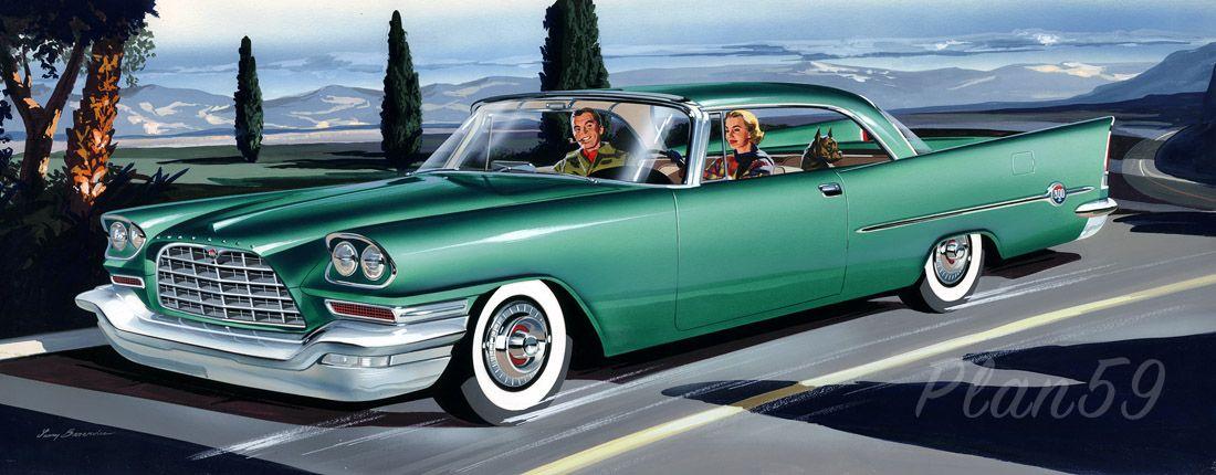 Classic Car Art Chrysler Car Pinterest