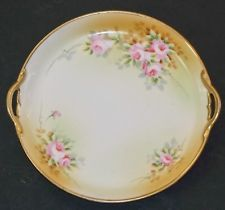 Maple Leaf Nippon Hand Painted Pink Roses Double Handle Plate Dish 7.75 inches  $70.00	 Buy It Now Free shipping