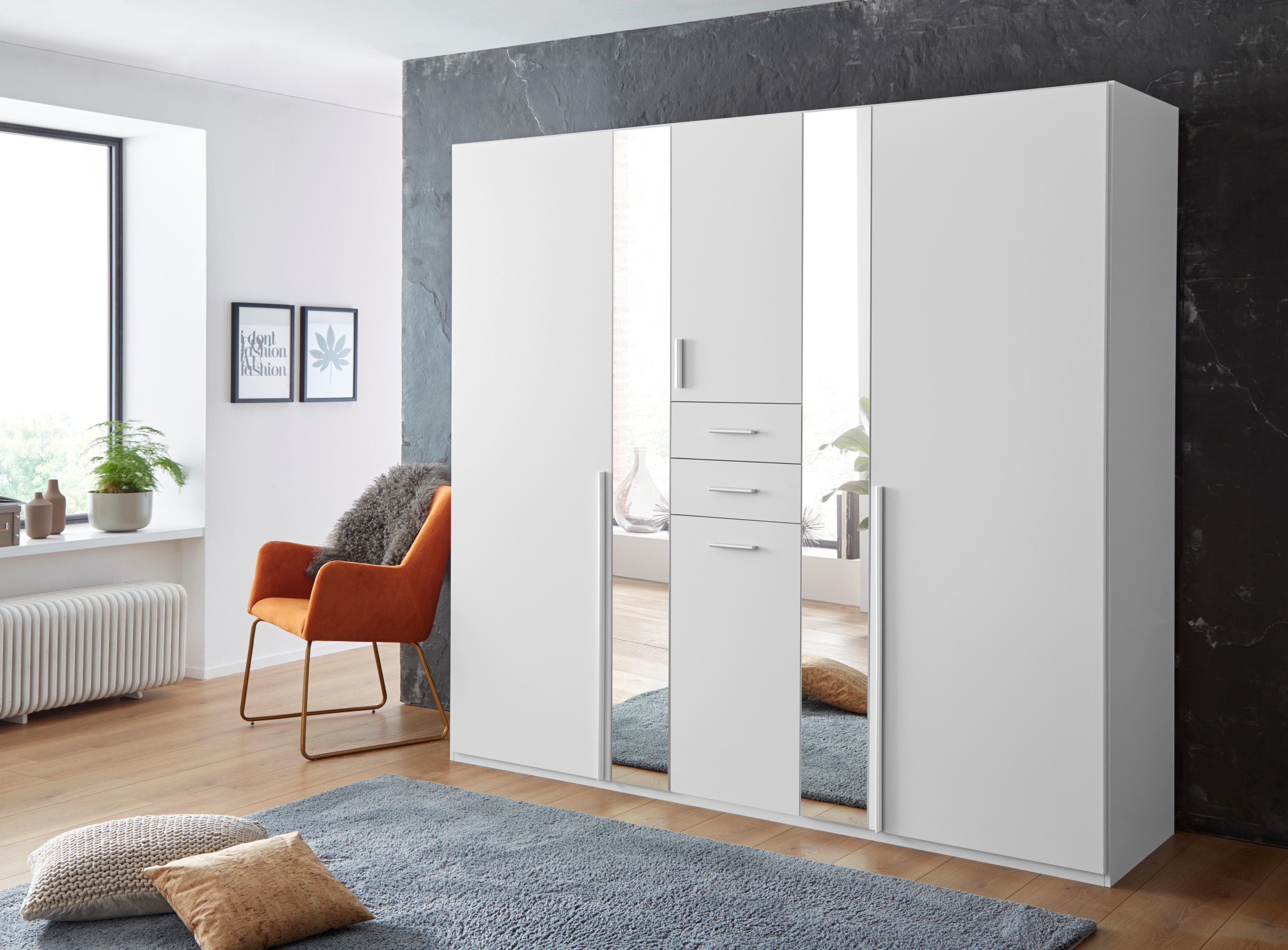 Wimex Kleiderschrank »Vanea«, 225 x 210 x 58 BxHxT cm, weiß
