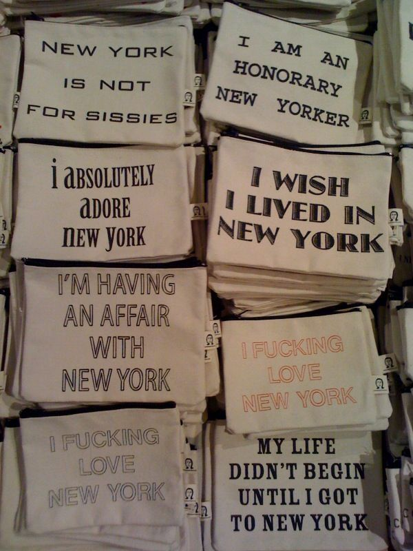 I bought one of these make up bags on my last trip to NYC from the Chelsea Markets