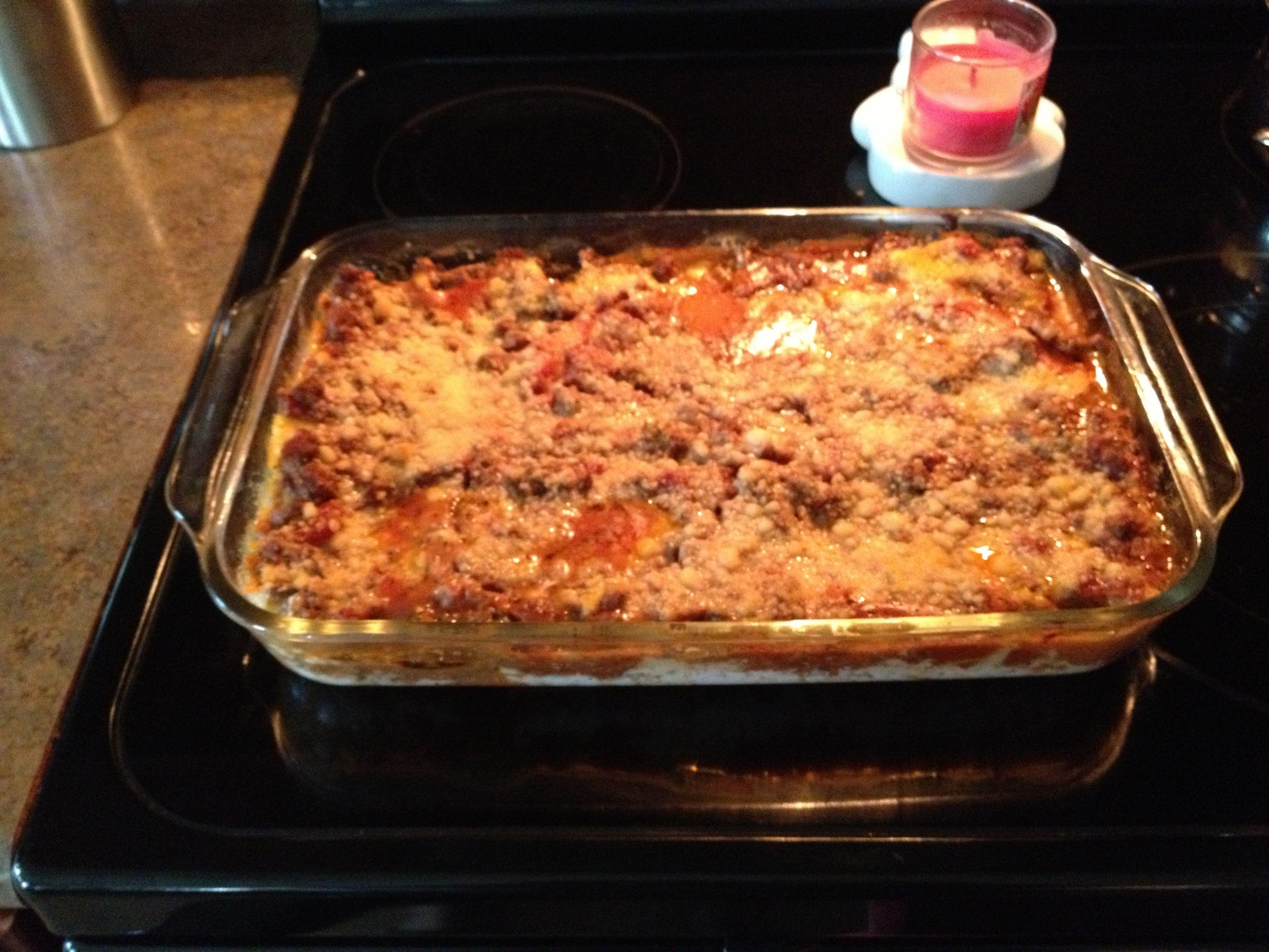 Attractive Grandmamau0027s Lasagne   Browned Seasoned Ground Meat, Ragu Garden Chunky Spaghetti  Sauce, Oven Ready