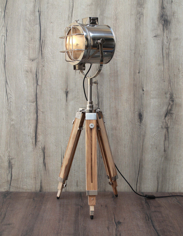 Vintage Teak Design Nautical Spotlight Tripod Floor Lamp Etsy In 2020 Tripod Floor Lamps Tripod Floor Floor Lamp