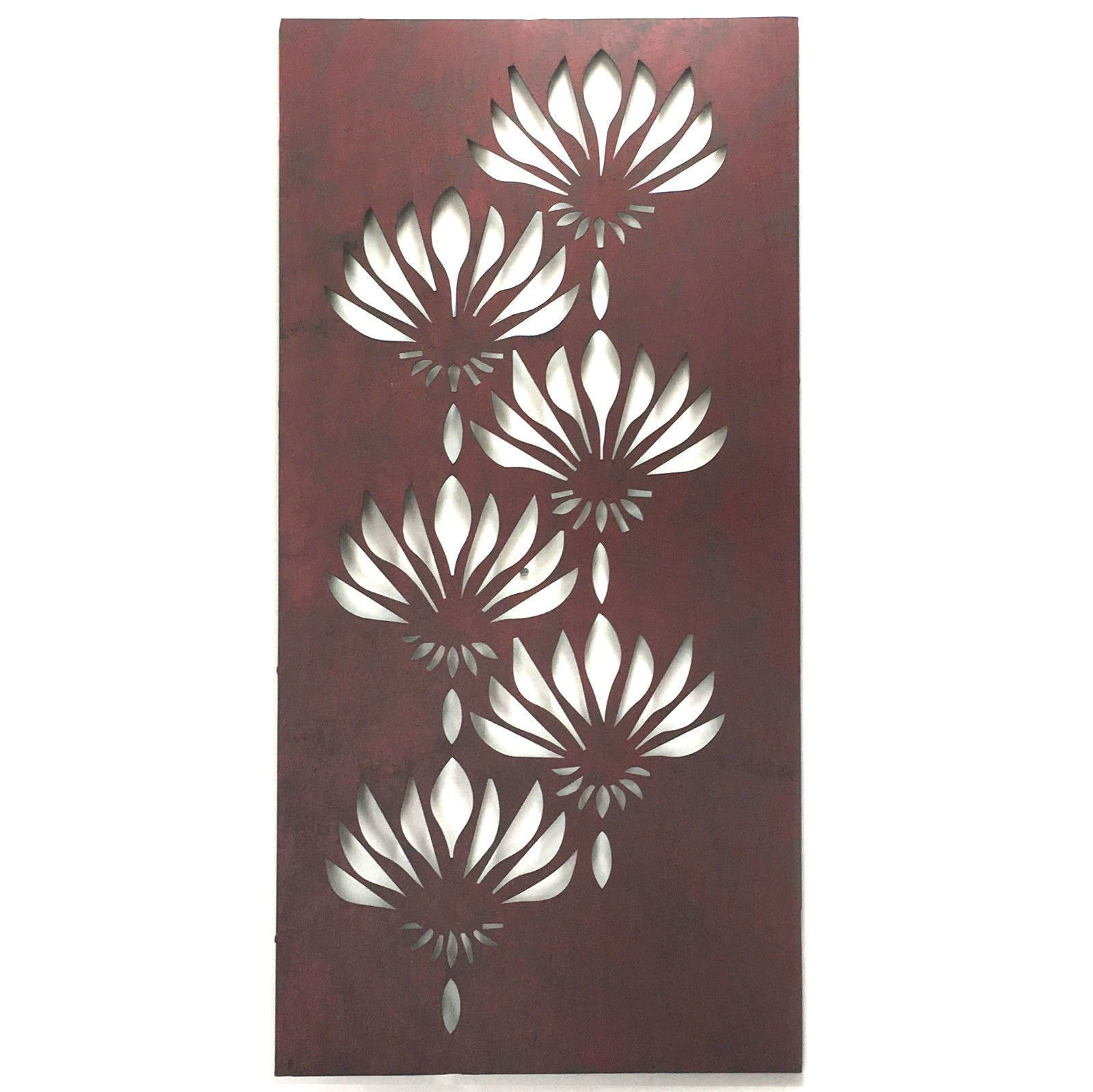 366bf5b7d8 A gorgeous laser cut lotus flower wall art. Made of metal. Dimensions  (width x depth x height): 38 x 1 x 80cm.