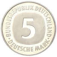 Silberadler Die 5 DM Umlaufmünzen von 19511974 in