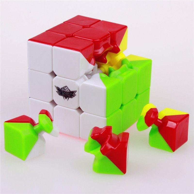 Cyclone Ragazzi Stickerless Velocità Cubo Magico Tocco Cubo Magico Professionale Di Puzzle Classico Giocattolo Educativo Per I Bambini Kid Regalo