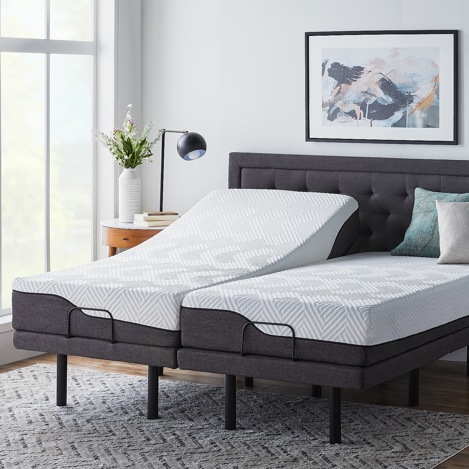 Best Lucid Comfort Collection 12 Inch Split King Size Memory 640 x 480