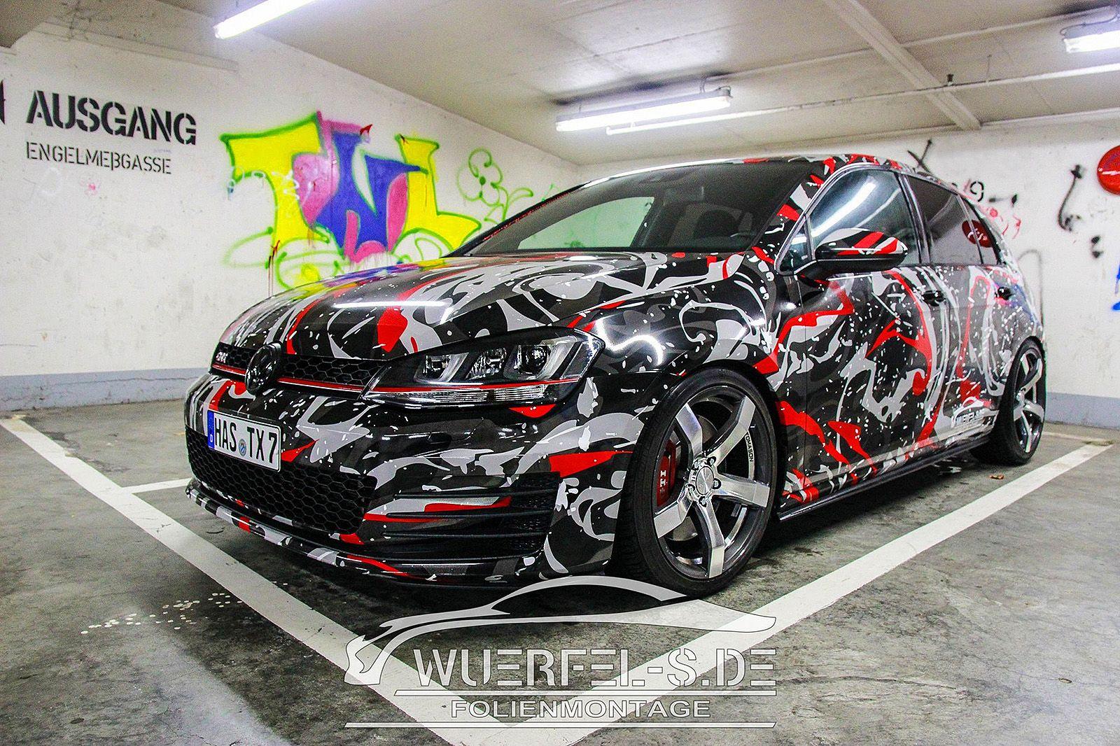 Golf7 Camo 1 Jpg 1600 1066 Custom Cars Camo Car Wrap