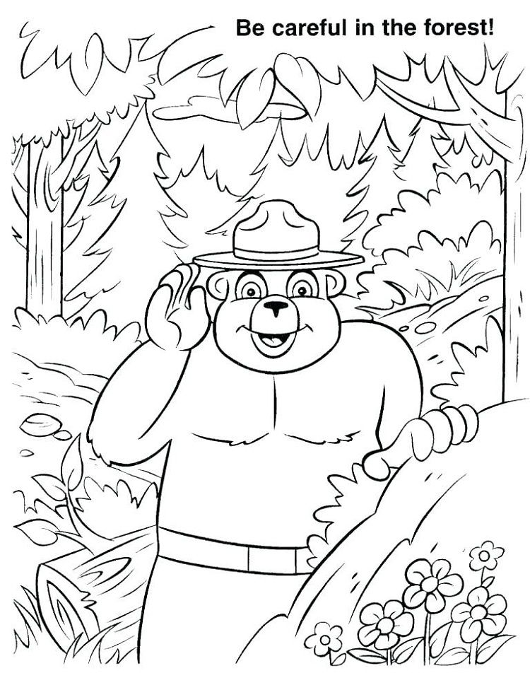 Smokey Bear Coloring Pages Http Prinzewilson Com Pinterest