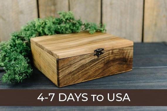 Large Wooden Box Personalized Keepsake