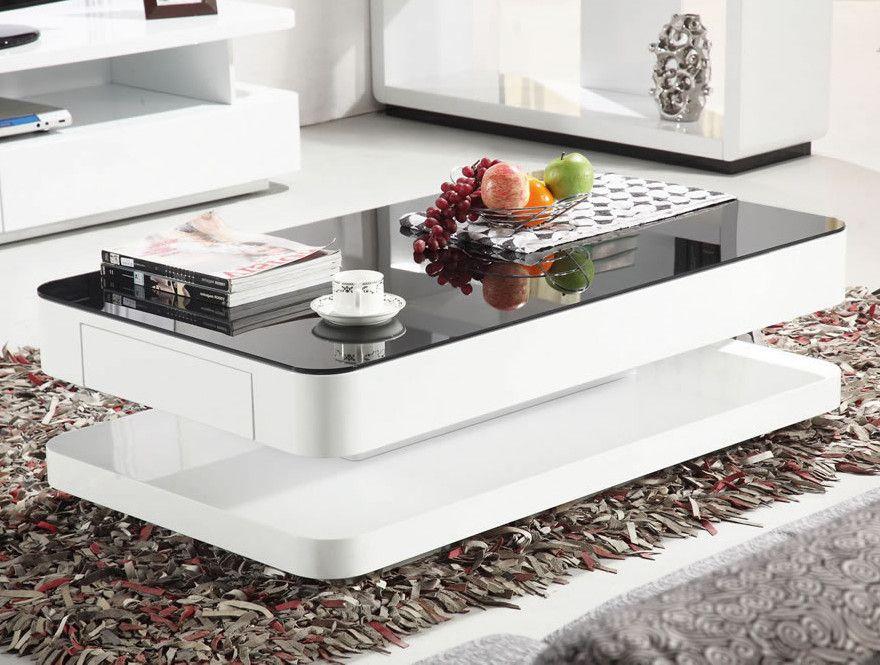 Courbe coffee table wayfair uk white glass coffee