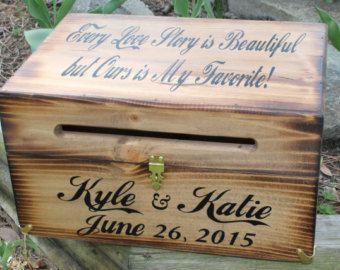 Rustic Wooden Card Box Wedding By Dlightfuldesigns