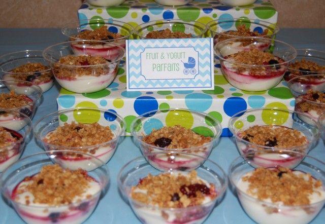 Breakfast Baby Shower Individual Fruit And Yogurt Parfaits