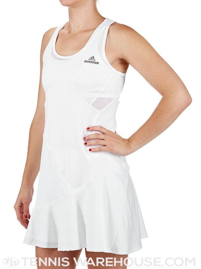 Adidas Women S Stella Mccartney Barricade Dress In White Tennis Fashion Adidas Women Fashion