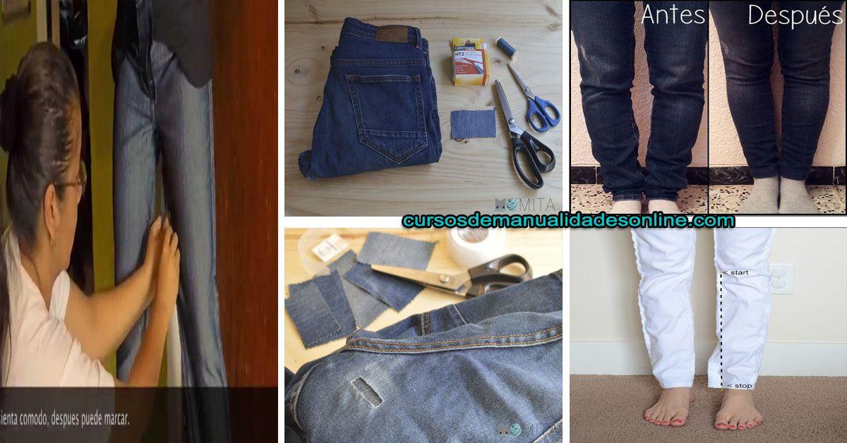 Aprende Como Reducir Un Pantalón De La Entrepiernas Paso A Paso Como Achicar Un Pantalon Pantalones Pantalones Anchos
