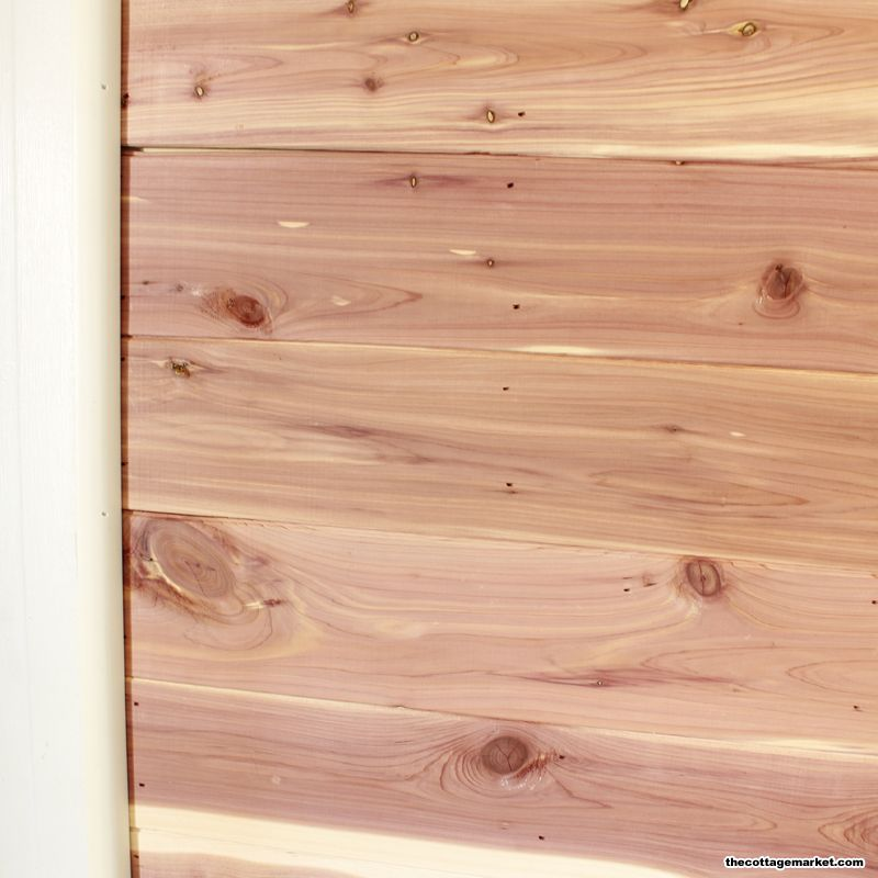 Diy Cedar Plank Feature Wall And A Little Makeover The Cottage Market Wood Shiplap Wall Wood Feature Wall Cedar Walls