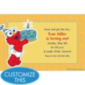 Elmo First Birthday Custom Invitation 1st Invitations Party Supplies