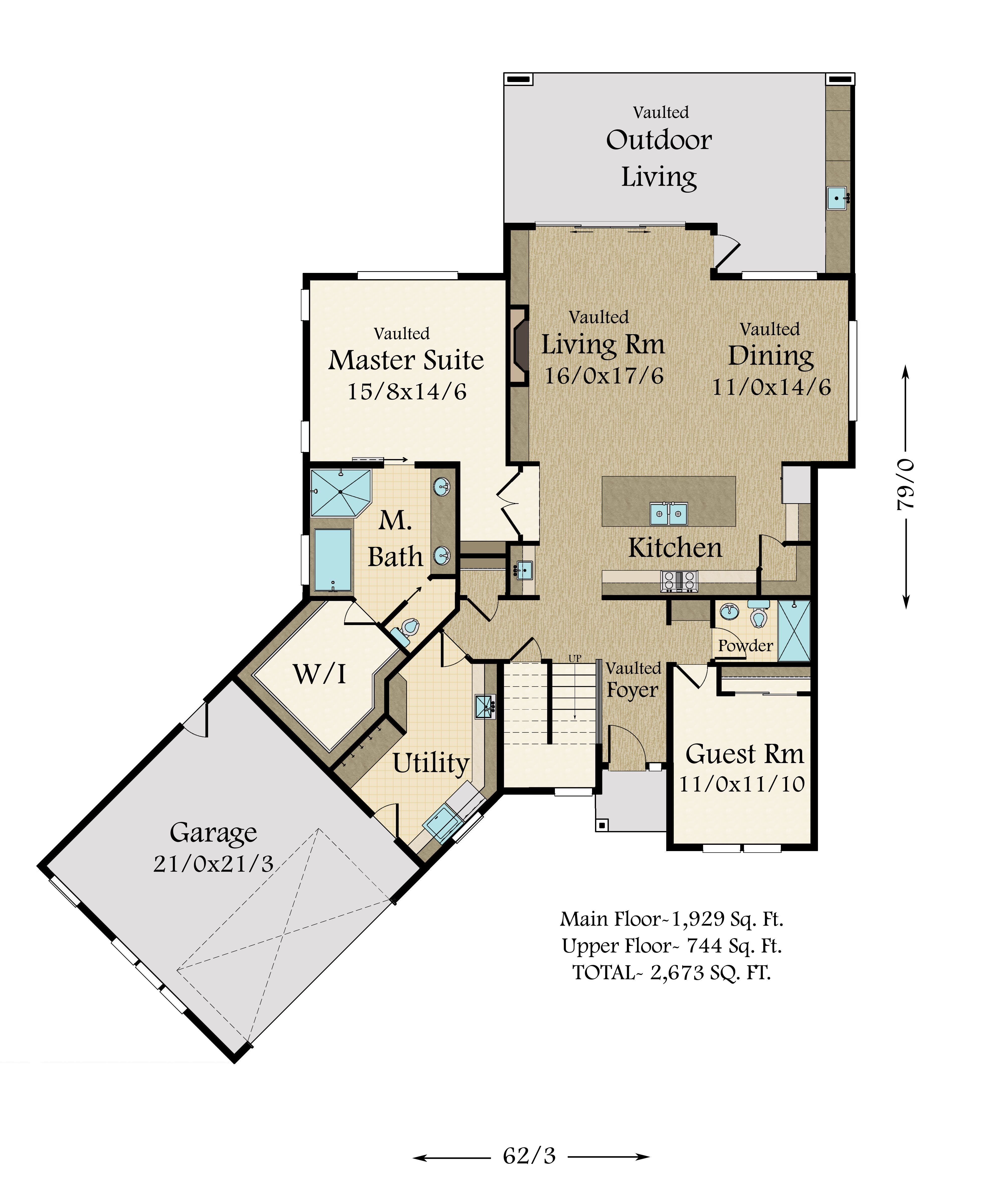 A Modern Empty Nester House Plan With Unique And Award Winning