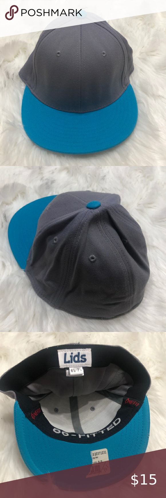 Lids 86 Fitted One For Blue Gray Hat 6 7 8 7 1 4 In 2021 Fitted Hats Blue Grey Grey Hat
