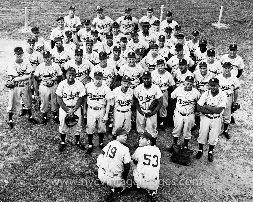 1953 Brooklyn Dodgers Team Photo With Images Dodgers Dodgers