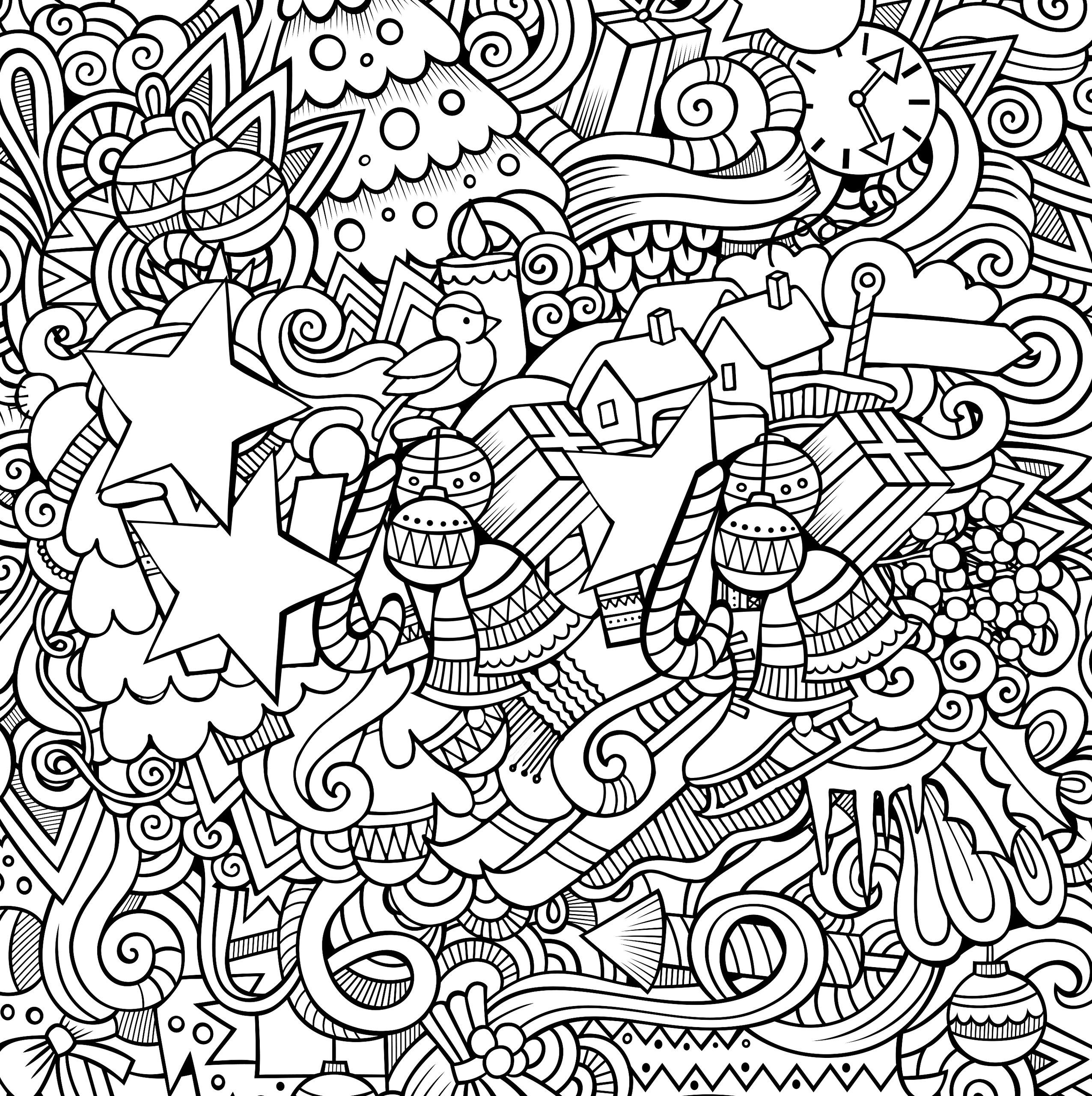 22+ Christmas Coloring Books to Set the Holiday Mood | Adult ...