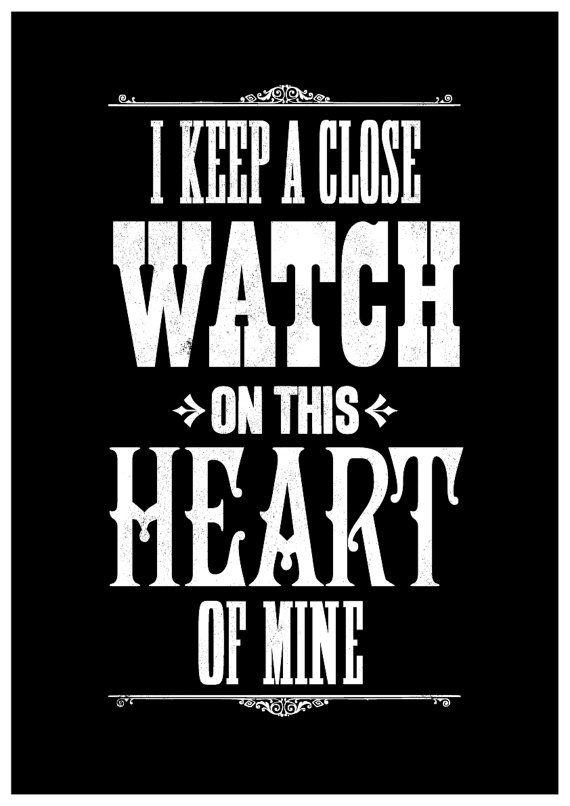 Johnny Cash Song Lyric Art Print Music Inspired Typographic I Walk The Line