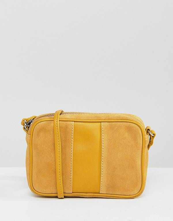 c00bee5fd5be0 ASOS Leather and Suede Panelled Cross Body Bag