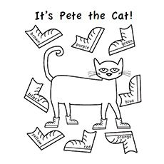 a pete the cat coloring pages green - Pete The Cat Coloring Page