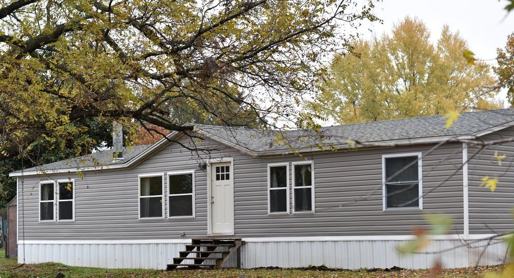 Exterior Remodel On A Clayton Home Double Wide Manufactured Trailer Double Wide Manufactured Homes Exterior Remodel Mobile Home Exteriors