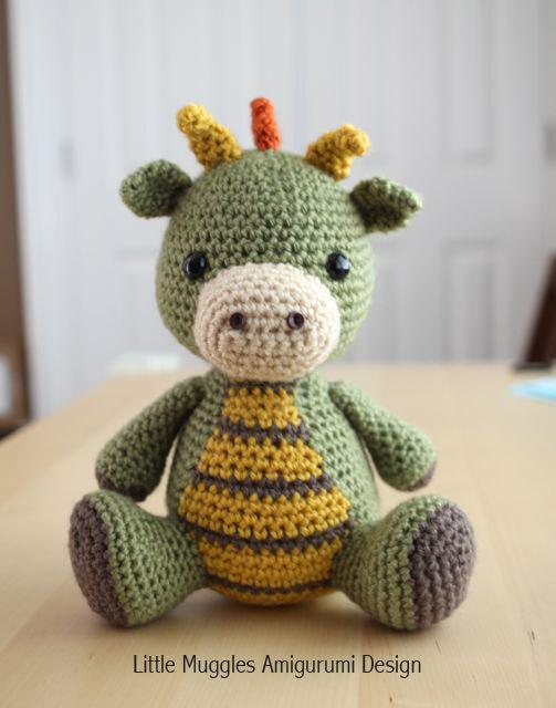 Amigurumi Crochet Pattern - Spike the Dragon | Los muñecos, Amable y ...