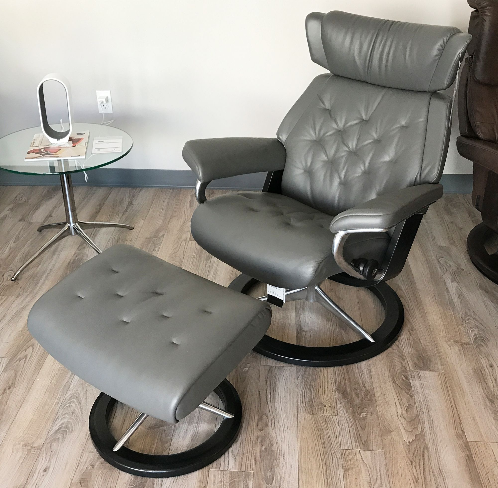 Stressless Magic Signature Sessel Stressless Skyline Signature Base Paloma Metal Grey Leather
