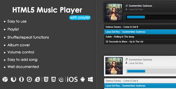 HTML5 Music Player With Playlist | Code-Scripts-and-Plugins
