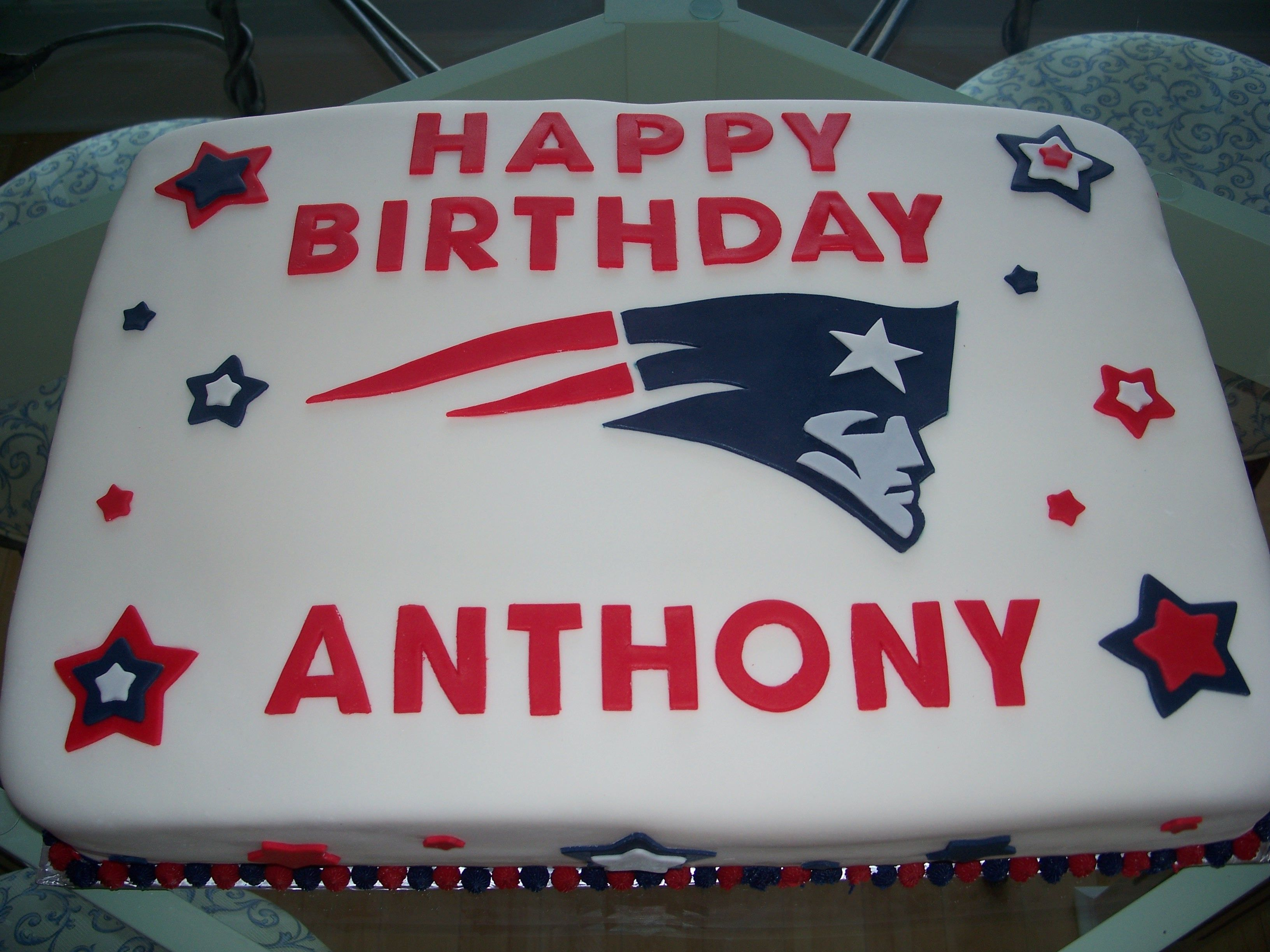New England Patriots Cake But With My Name On It Would Be Amazing Patriotic Cake Patriotic Party Sports Themed Cakes