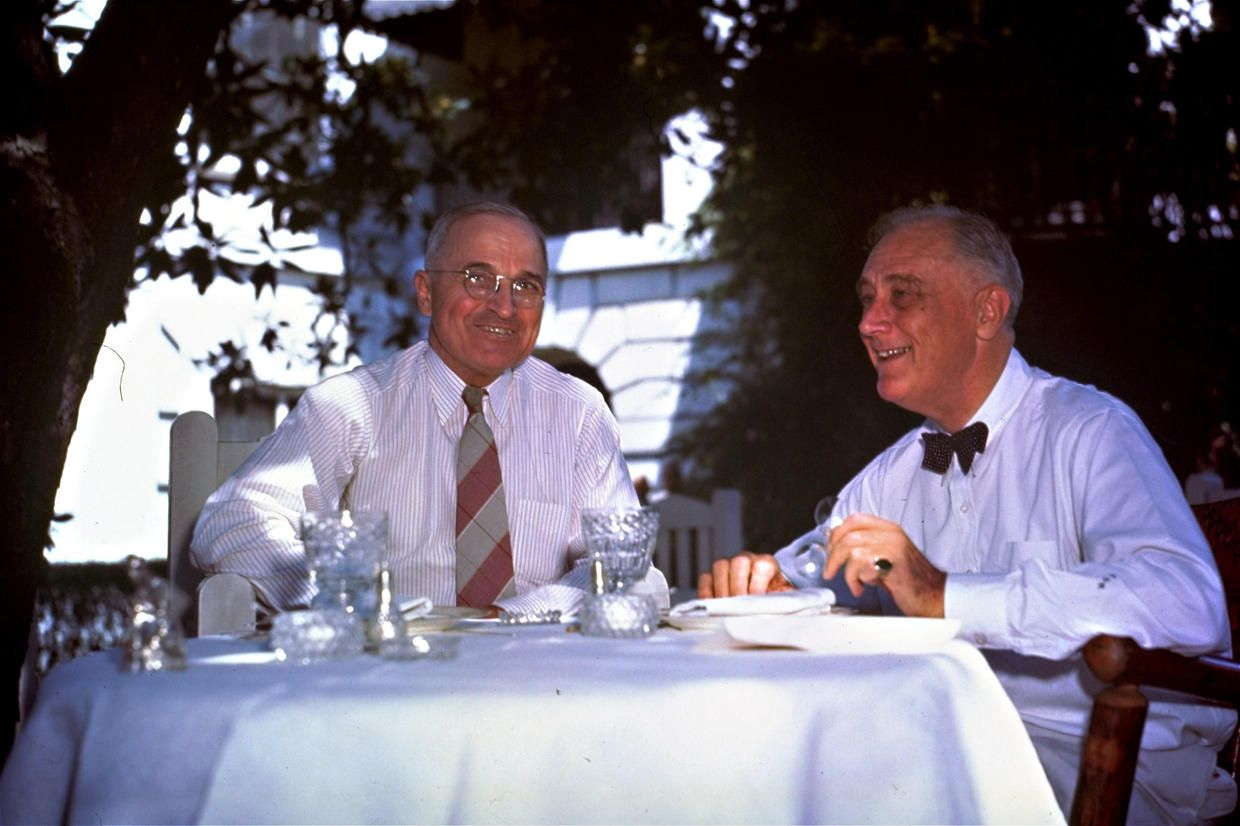 the way it was today in history harry truman lunch table and fdr truman president franklin d roosevelt right sitting harry s