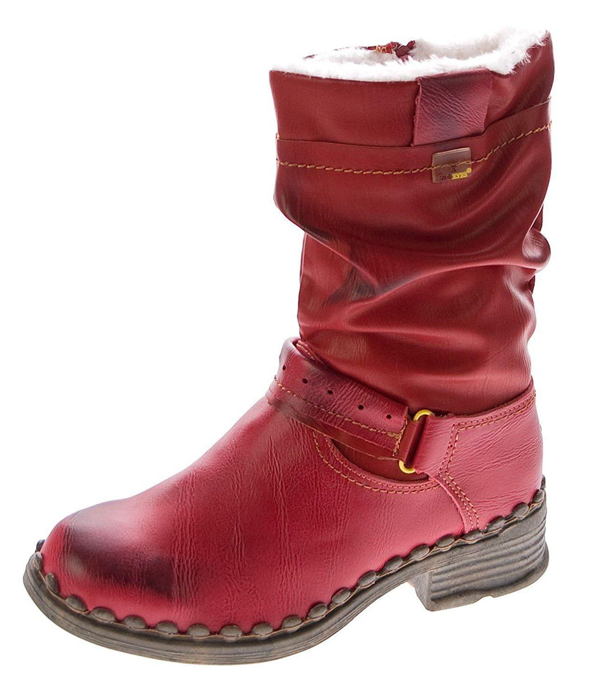 hot sales b3e69 14765 TMA Damen Winter Stiefel echt Leder gefüttert Comfort ...