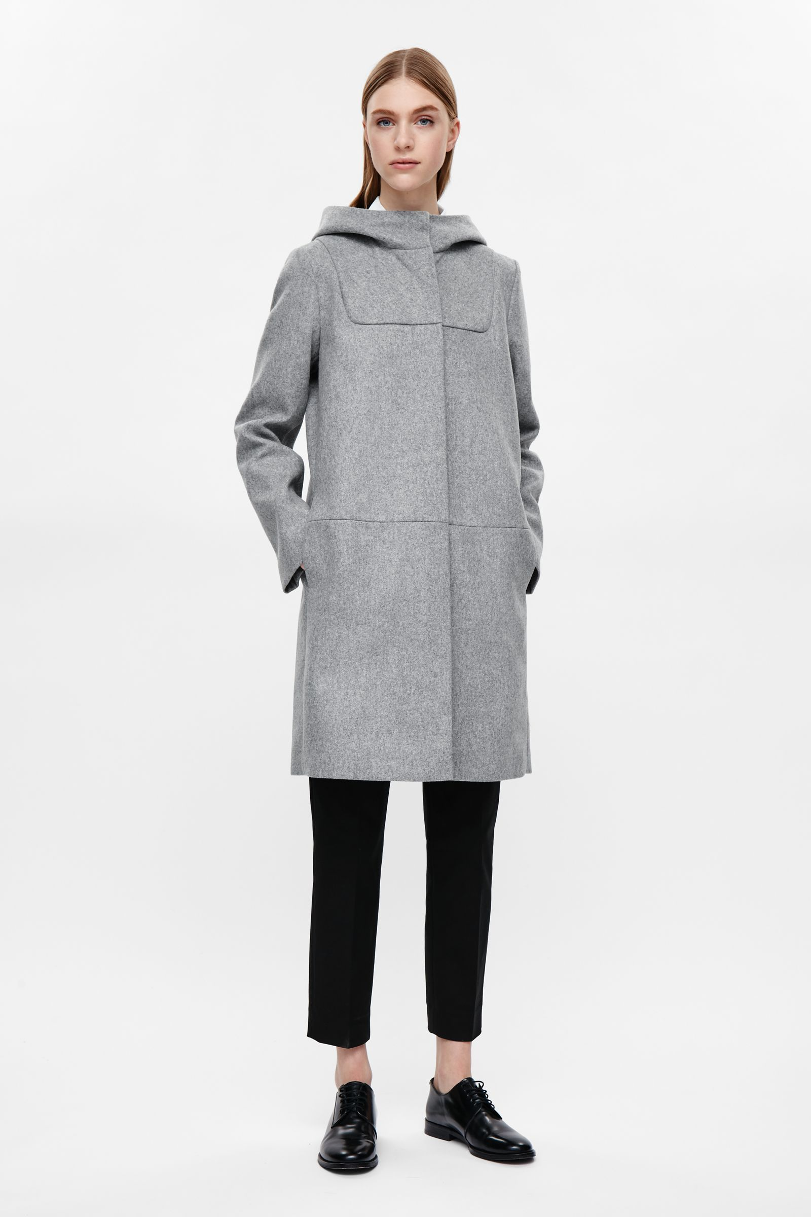 COS image 1 of Wool duffle coat in Grey | Clothes | Pinterest ...