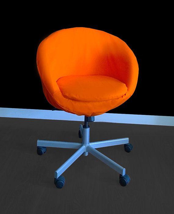 IKEA Orange SKRUVSTA Chair Slip Cover
