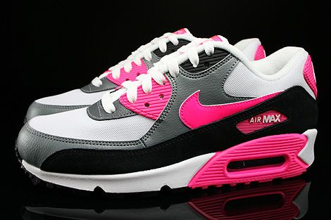 Nike Wmns Air Max 90 Essential White Hyper Pink Cool Grey Black