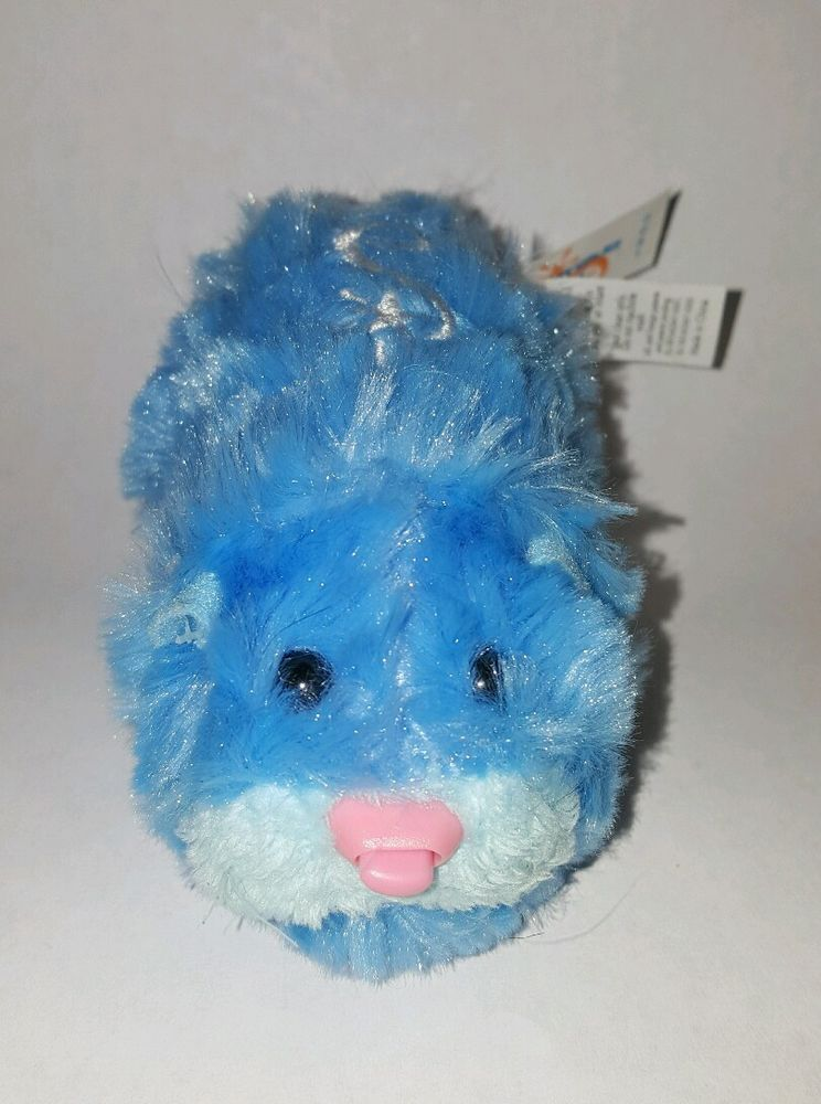 Zhu Zhu Pet Hamster Blue Fluffy Aloysius With Name Tag Tested And