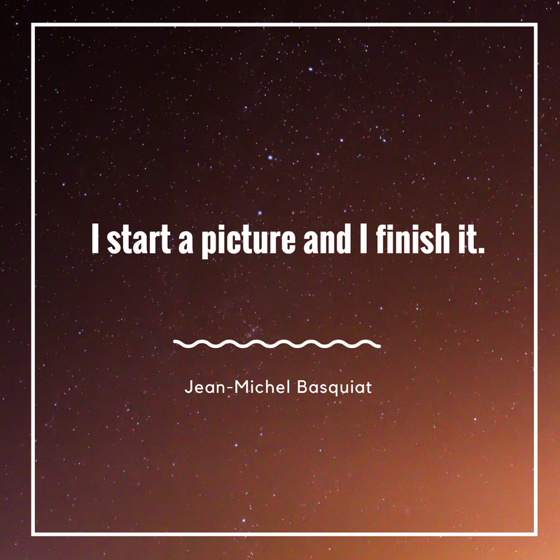 Inspirational Quote by JeanMichel Basquiat art quote