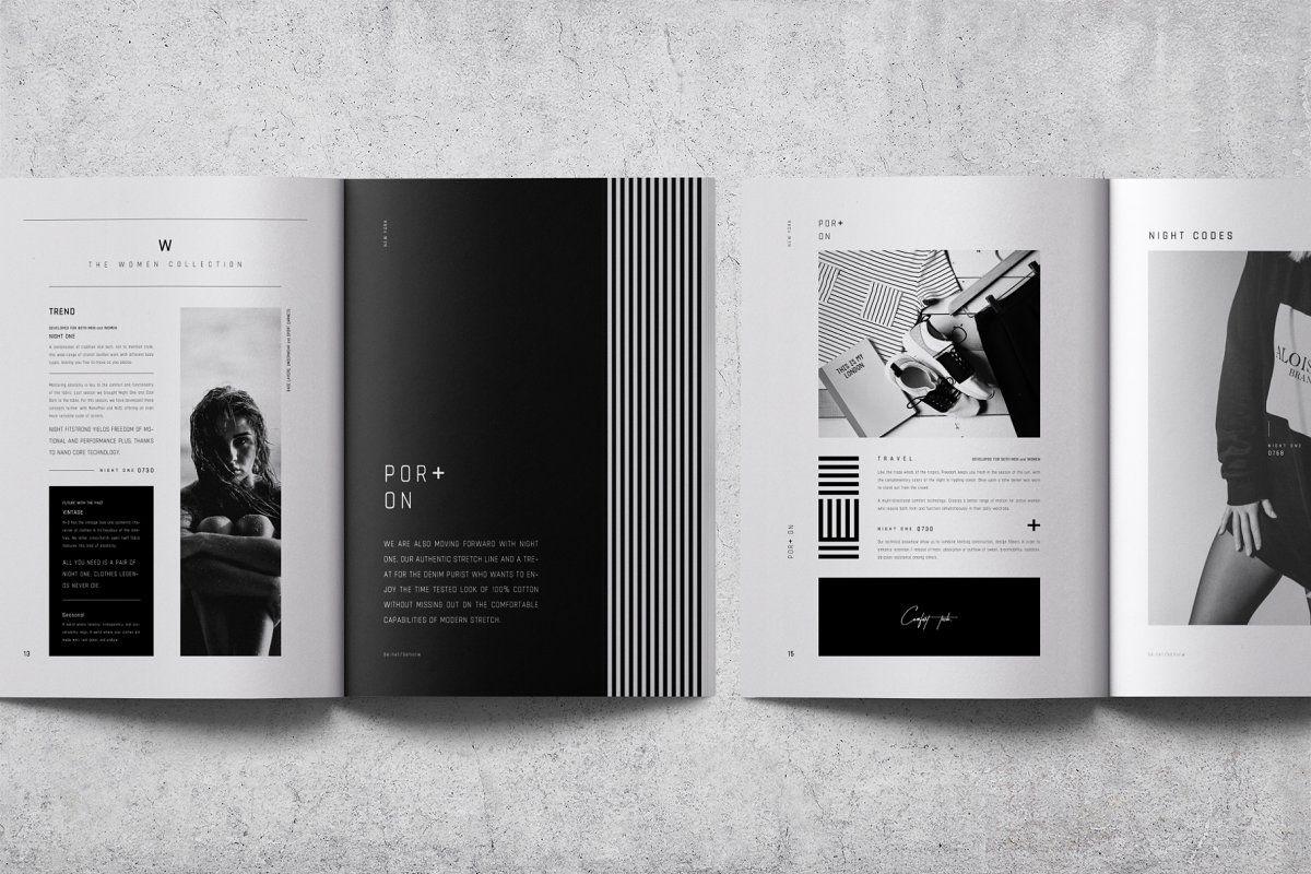 Por On Lookbook Brochure Brochure Design Template Portfolio Design Indesign Brochure Templates
