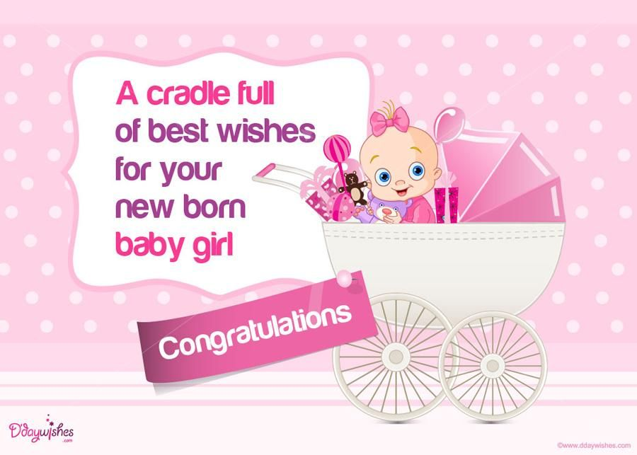 Get highly creative New Baby Girl Congratulation Cards from