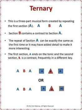 Music lessons   |  FORM in MUSIC:An excellent teaching resource explaining THREE of the most common forms in music; 1 Binary 2 Ternary 3 Rondo    #$musiceducaton