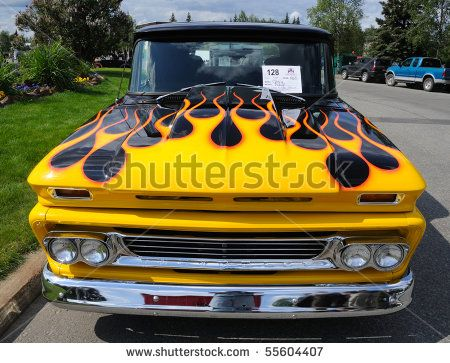 yellow with flames or black with flames the 1947 present chevrolet gmc truck message board network gmc truck trucks classic chevrolet present chevrolet gmc truck message