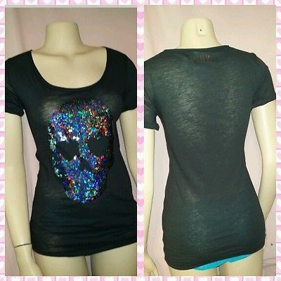 Victoria's Secret Rare Limited Edition Bling Skull Black Top Tattoo Bling XS #fashionmagenet #fashion #victoriassecret #victoriasecret #pink #victoriassecretpink