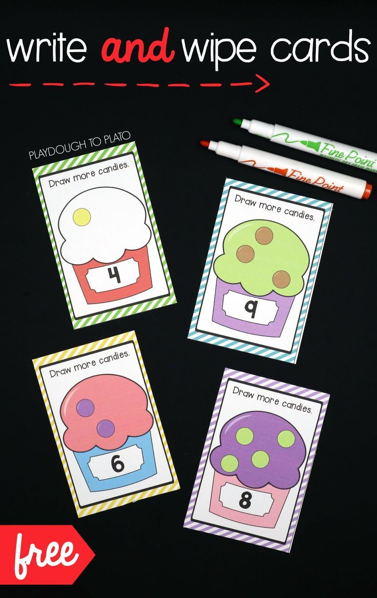 Write and Wipe Counting Cards | Math, Kindergarten and ...