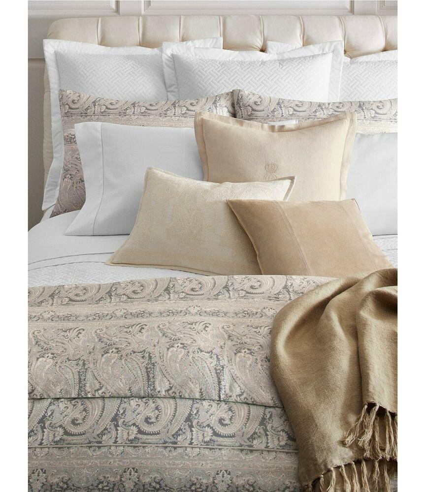 Ralph Lauren Mariella Paisley King Comforter Gray 430