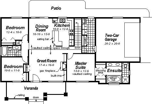 3 Bedroom 2 Bath Ranch House Plan Alp 08j5 Floor Plans Ranch Small Craftsman House Plans Ranch Style House Plans
