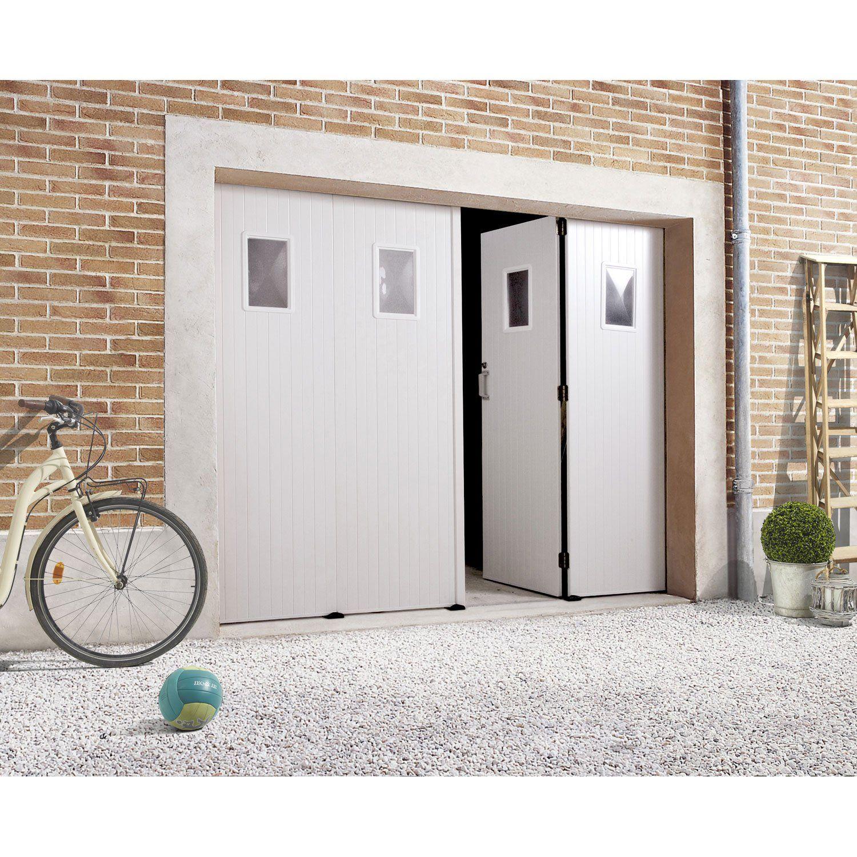Porte De Garage Pliante Manuelle Primo H 200 X L 240 Cm Avec Hublot Interior Design Bedroom Garage Doors Garage