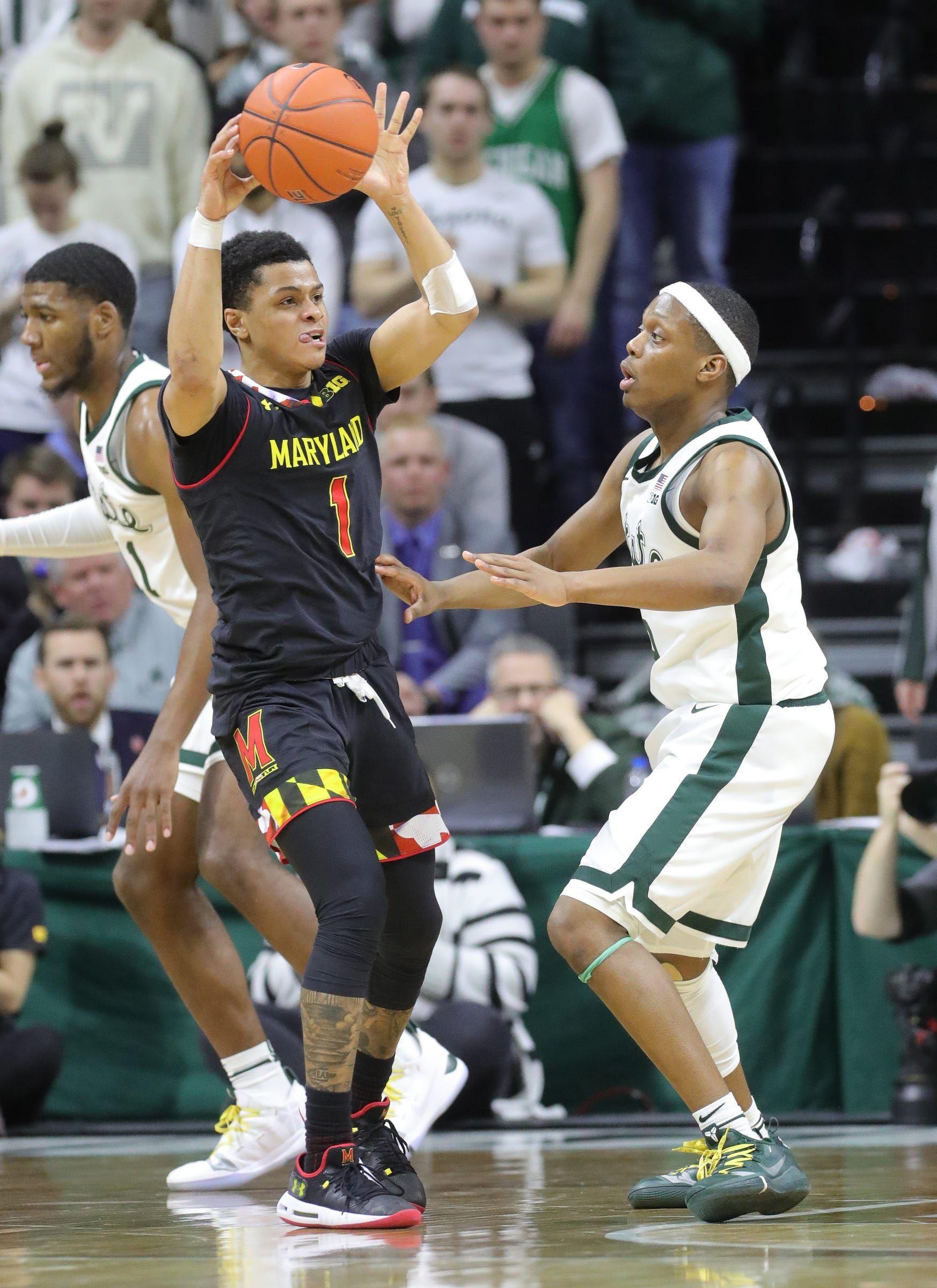 No. 25 Michigan State basketball vs. No. 9 Maryland